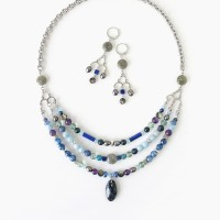 Mediterranean Blue Necklace & Earrings Set // Kalung Blue Statement