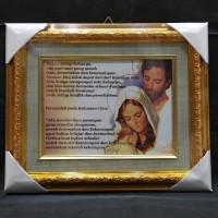 Panjangan Frame Ukir Gold / Frame Keluarga Rohani
