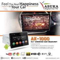 Head unit Android 10inch ASUKA AK1000 Tape Double Din TV Youtube