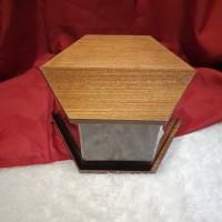 Kotak kayu Hexagon Body Akrilik Custom