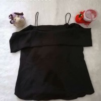 SALE NEW Blouse Sabrina Black Bigsize Import BKK Bangkok Thailand