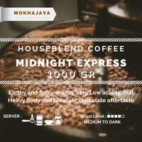 House Blend Midnight Express 1000gr 1kg Robusta Arabica Coffee