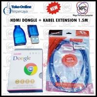 HDMI DONGLE DARI HP KE TV PLUS KABEL EXTENSION 1.5M