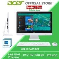 ACER PC ALL IN ONE C20-830 - DUALCORE J4005U 4GB 1TB 19,5 W10 RESMI