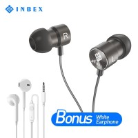 INBEX Bass Hifi Earphone Bonus Putih Earphone