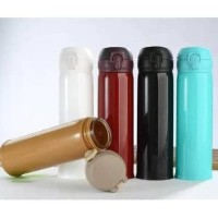 A102 Botol Minum Kaca Niagara Beling Lapis Cover Plastik Polos 500ml