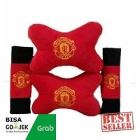 Bantal Mobil Set 2 in 1 Manchester United MU / Headrest Car 2in1 Bola