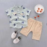 Baju setelan kaos import rompi sambung pesta anak bayi cowok laki