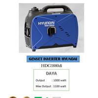 Genset silent inverter Hyundai HDG 1880