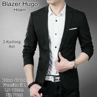 Blazer Pria HUGO jas cowok pakaian pria semi formal pesta seragam