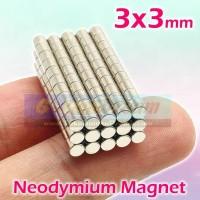 Strong Magnet Neodymium 3x3mm Silinder 3x3 mm N52 Mini Tebal 3mm