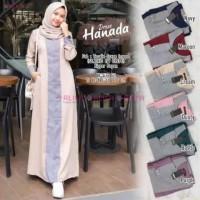 Baju Gamis Wanita Busana Muslim Wanita Hanada Maxi Dress Moscrepe