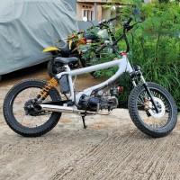 Modifikasi motor BMX Cub Honda Supra
