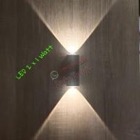 Lampu Dinding Taman LED Outdoor Mini 2 x 1 watt / LED Wall Light 2watt