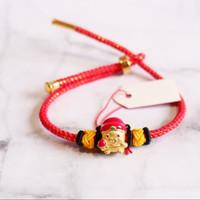 Gelang Pandora Merah Metalik Charm Shio Babi