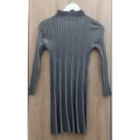 Mini Dress Casual Lengan Panjang Gray