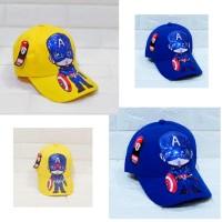Topi anak led motif superhero 2-10 tahun