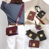 tas selempang wanita cewek bahan kulit sintetis fashion slingbag