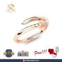 SINAR BERLIAN Jewellery - Cincin berlian F VVS (Cartier Diamond Ring)