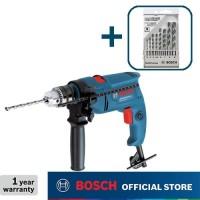Bosch Bor Tangan Listrik Impact dengan CYL-4 Mata Bor Set 8Pcs GSB 550