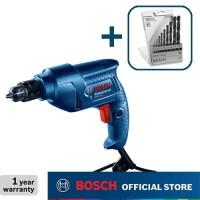 Bosch Bor Tangan Listrik dengan HSS-R Mata Bor Set (10pcs) GBM 350