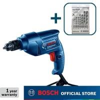Bosch Bor Tangan Listrik dengan CYL-4 Mata Bor Set (8pcs) GBM 350
