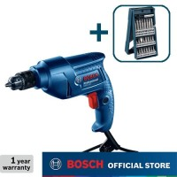 Bosch Bor Tangan Listrik dengan Mata Obeng 25Pcs Mini X-Line GBM 350