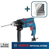Bosch Bor Tangan Listrik Impact dengan HSS-R Mata Bor Besi Set GSB 550
