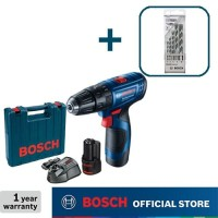 Bosch Bor Tembok Baterai dengan CYL-4 Mata Bor Set GSB 120-Li Gen3