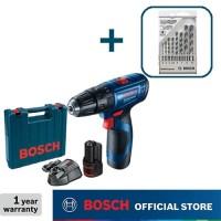 Bosch Bor Tembok Baterai dengan CYL-4 Mata Bor 8pcs GSB 120-Li Gen3