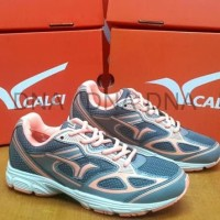 Sepatu Running Calci Dallas Woman Grey / S. Orange - ORIGINAL - 39