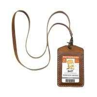 Gantungan ID Card Name Tag Holder Kulit merk Gullwings v.2