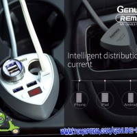 Smart Car Charger - REMAX Alien Series CR-3XP 3 USB Ports