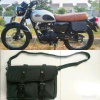 SIDE BAG Tas samping motor Kawasaki W175 atau Honda Universal