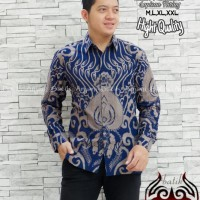 Kamandanu Blue Kemeja Batik Solo Lengan Panjang Full Furing By Anjani