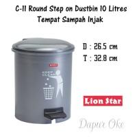 Lion Star Tempat Sampah Injak Bulat 10 Lt C-11