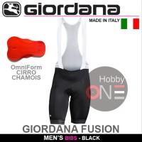 Giordana Fusion Men BIB SHORT BLACK - BIBS Bukan Santini Castelli