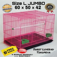 BIG SALE Kandang Besi Lipat Kotak Untuk Kucing Kelinci Burung Anjing