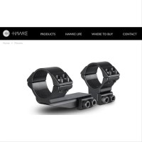 PROMO Hawke Mount Extension Ring 30mm 9-11mm Rail High MOUNTING