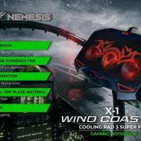 Cooling Pad Kipas Pendingin Laptop Wind Coaster 3 Fan LED NYK X1
