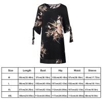 Floral Print Dresses Women Sum Half Sleeve Clothing Plus Size Dress