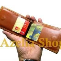 name tag kulit-id card holder-asli-kulit sapi-pull up- premium-do