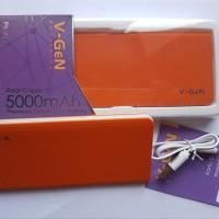 Power bank V-gen V502 5000 MAH orange slim real capacity garansi 1 T