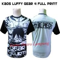 Kaos Luffy Gear 4 Full Print anime one piece