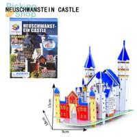 Puzzle 3D DIY Model Istana Angsa 3D untuk Edukasi