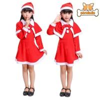 3Pcs Kostum Santa Claus untuk Anak Perempuan