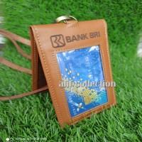 iD card holder kulit asli - name tag kulit asli costum nama perus
