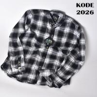 Kemeja Flanel Premium Murah 2 Motif Best Seller / Flanel Grosir Keren - KODE 2026, M