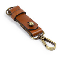 Gantungan Kunci Kulit Sapi Asli Keychain Snap hook Key holder GK-03
