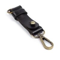 Gantungan Kunci Kulit Sapi Asli Keychain Snap hook Key holder GK-Bk03